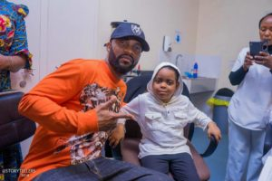 FALLY DONATES TO CANCER AND DISABLED CHILDREN AT UTH