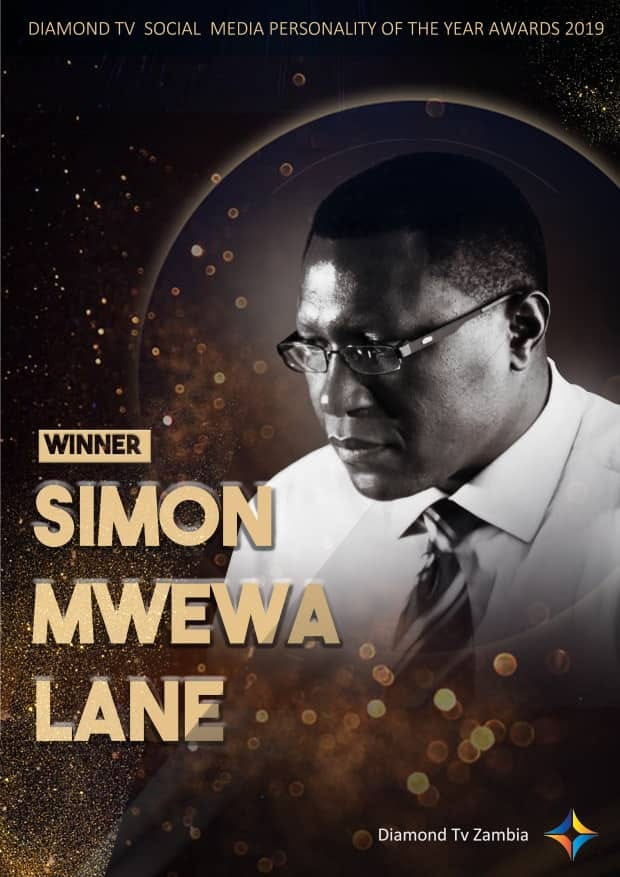 SIMON MWEWA NAMED SOCIAL MEDIA PERSONALITY OF THE YEAR