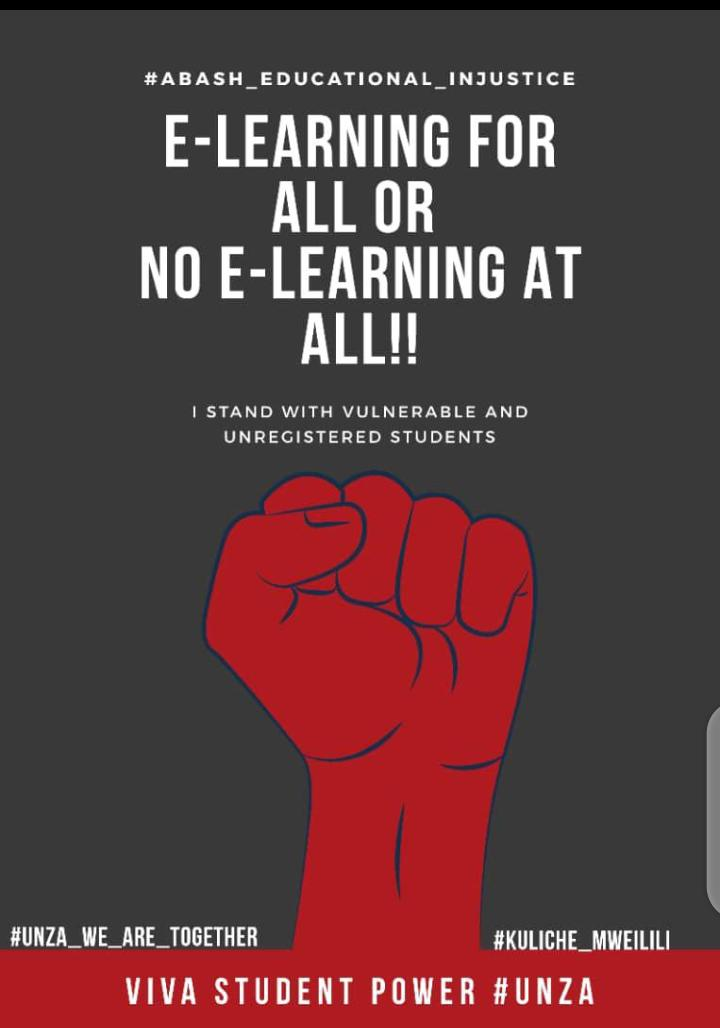 UNZA STUDENTS SAY NO TO E-LEARNING